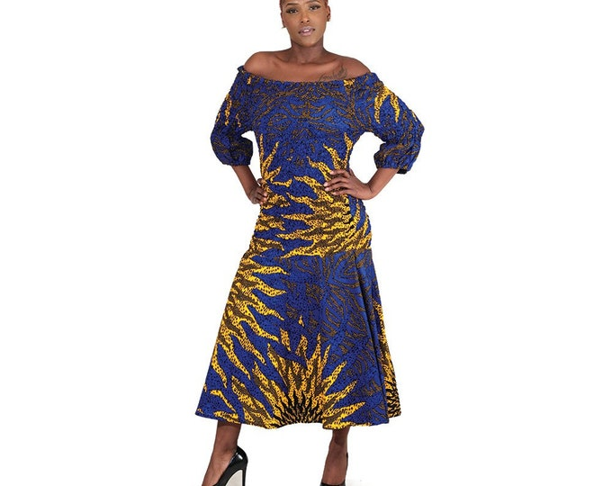 Eye of theSun Fit and Flare Ankara Dress