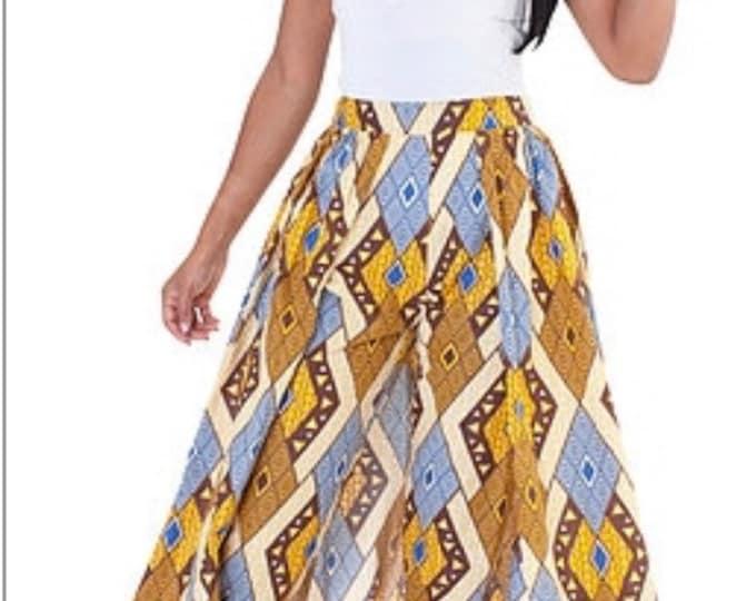 Ankara Pants Skirt with Pockets