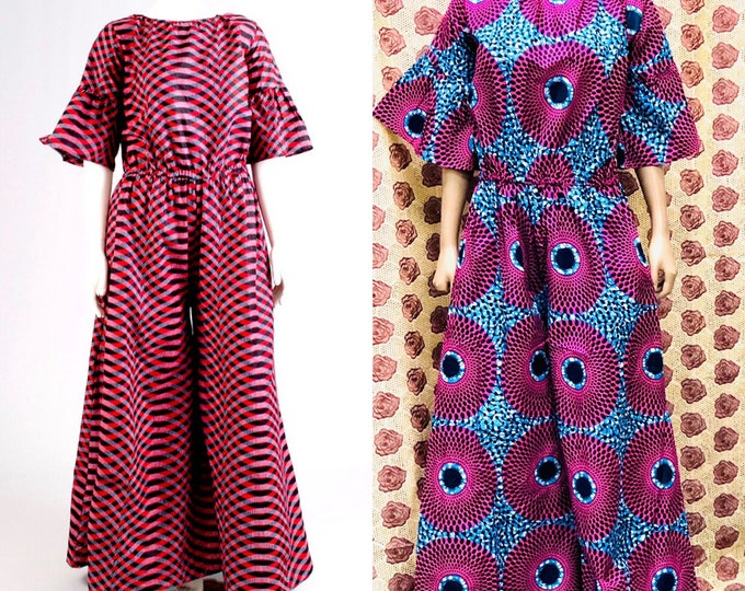 Fit and flare Ankara Jumpsuit