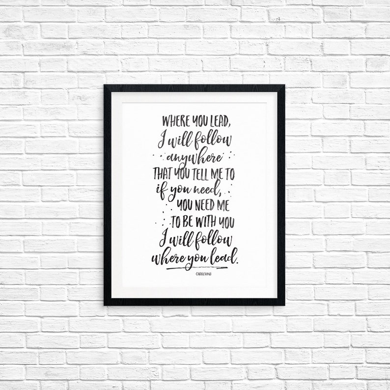 Printable Art Where You Lead I Will Follow Gilmore Girls image 0
