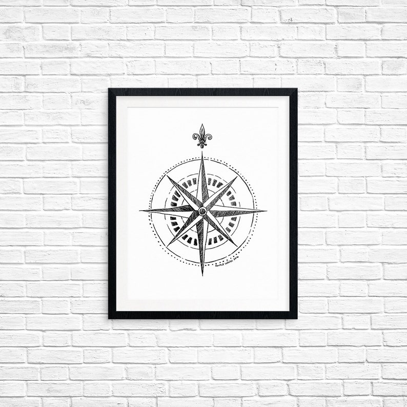 photo regarding Compass Printable titled Printable Artwork, Comp Rose, Religious Brand Artwork, Household Decor, Artwork Printable, Electronic Down load Print