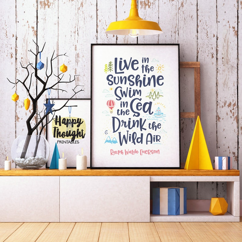 Printable Art Live in the Sunshine Swim in the Sea Drink the image 0