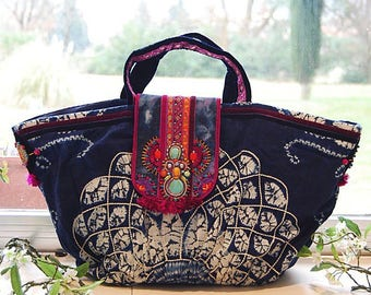 Bohemian style beach bag