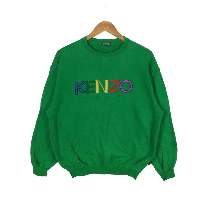 89f01eae5 Vintage 90s KENZO Sweatshirt Kenzo Golf Multicolour Spellout | Etsy