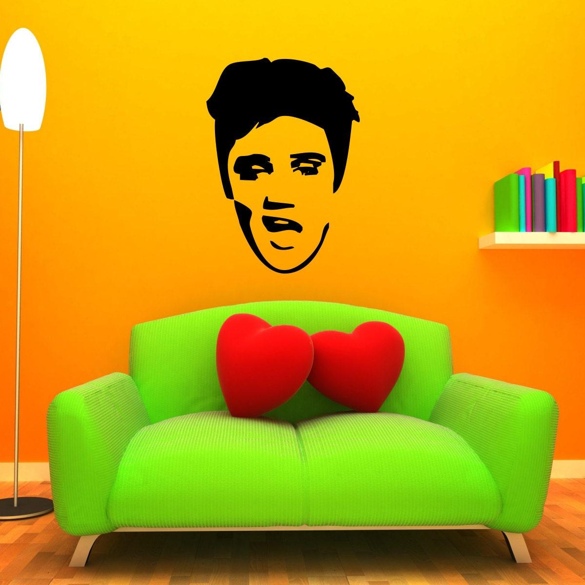 Elvis Presley Wall Decal   Etsy