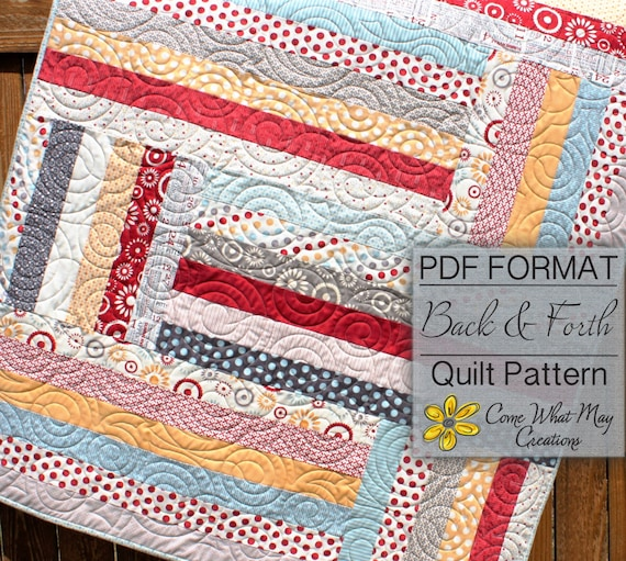 Baby Quilt Pattern Jelly Roll Quilt Pattern Back Forth Etsy Custom Jelly Roll Quilt Patterns