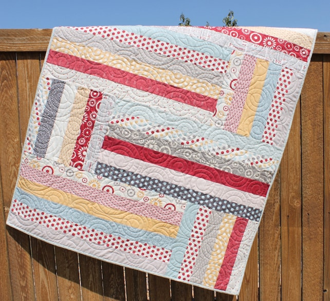 Baby Quilt Pattern Jelly Roll Quilt Pattern Back Forth Etsy
