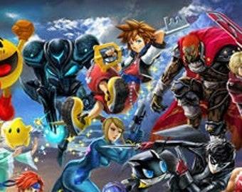 Big Smash Brothers Ultimate Sora Final Long Poster