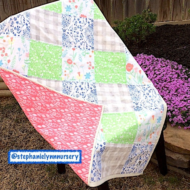READY TO SHIP Baby Girl Quilt Crib Bedding Toddler | Etsy