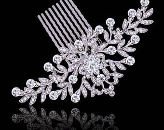 Bridal Crystal Hair Comb, Bridal Hair Accessory, Wedding Jewellery, Crystal, Victorian Style,