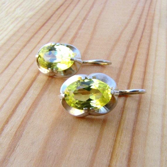 Citrine earrings November birthstone jewelry
