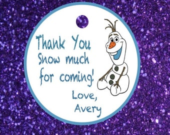 Olaf Thank you tags