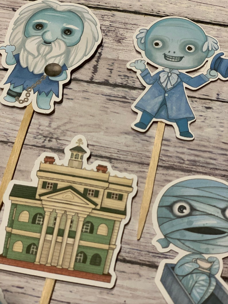 The Haunted Mansion Cupcake Toppers