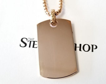 rose gold dog tags