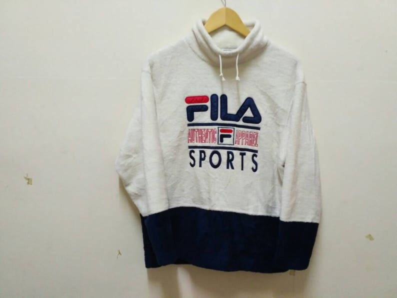 a2beafa89bad Fila Biella italia Authentic Apparel sweatshirt pullover big | Etsy