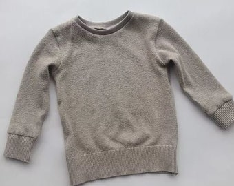 Knitted jumper, leggings set, kids recycled clothing, upcycling, 6-9m