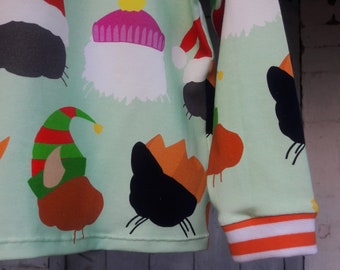 Cats in Christmas Hats tee, exclusive print, unisex kids tee, gender neutral children's clothing