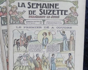 Bleuette 1917 LOT A, sewing patterns, antique doll patterns, la semaine de suzette 11 numbers - FRENCH LANGUAGE(ref 183)