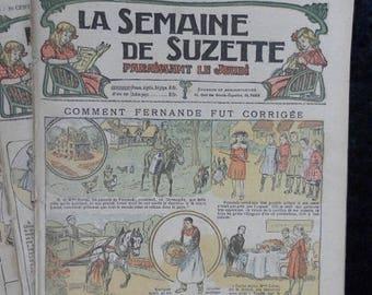 Bleuette 1917 LOT B, sewing patterns, antique doll patterns, la semaine de suzette 11 numbers - FRENCH LANGUAGE(ref 184)