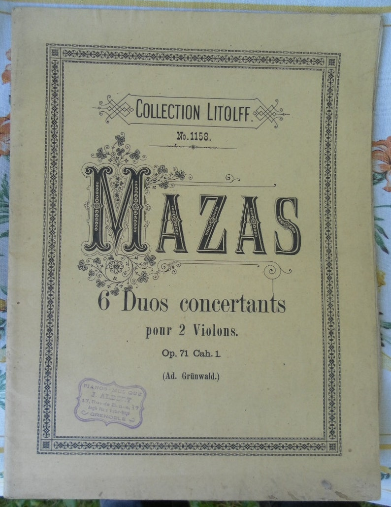 Mazas six duets for violins. Opus 71 Cahier 1 ONLY THREE image 0