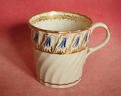 Georgian Porcelain Coffee Can Barr Worcester Antique China c.1800-1805