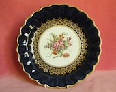 Victorian Antique Coalport China Dessert Plate in 1st Period Worcester Style 1870s