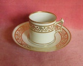 Worcester Coffee Can and Saucer Flight Barr Barr c.1815 Antique China