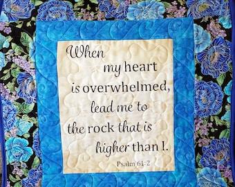 Biblical quotes, handmade prayer quilt, nursing home gift, bereavement gift, pastor gift, mothers day gift, Christian keepsake quilt