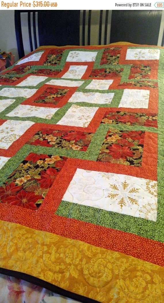 On Queen Size Quilt, Queen Size Holiday Bedding