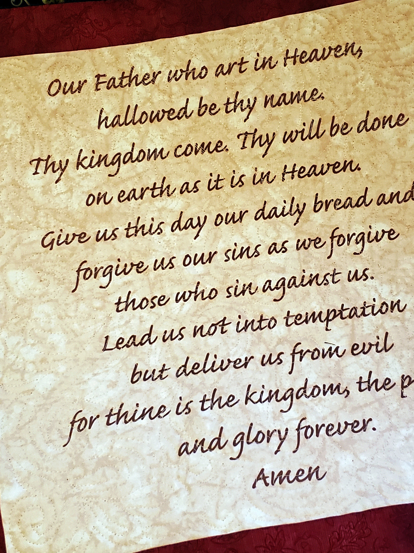 Lord\'s Prayer, Handmade prayer quilt, Lord is my shepherd, wedding ...