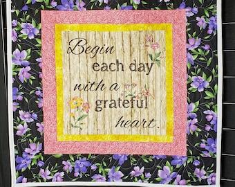 Christian bible quilt, handmade prayer quilt, bible verse decor, scripture quilt, Christian wall art, nursing home gift,
