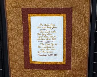 Handmade prayer quilt, Christian quilt, religious quilt, Christian gift