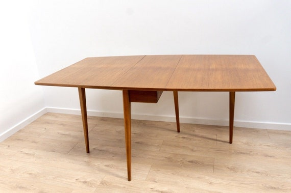 Mid 20th Century Teak Drop Leaf Dining Table By Sutcliffe Of Etsy