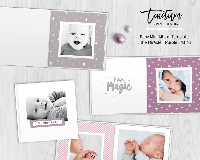 Baby Mini Album Sjabloon Klein Wonder Paarse Edition Etsy