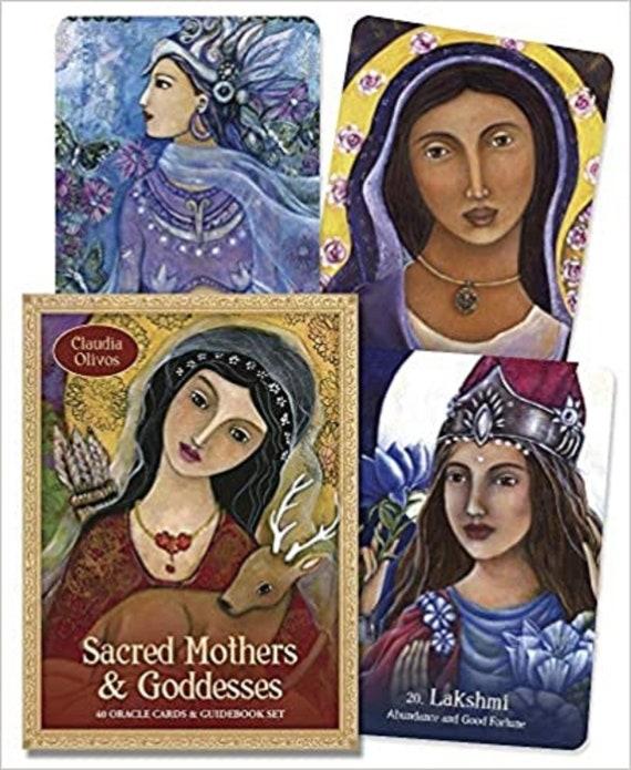 Sacred Mothers, Goddesses: 40 Oracle Cards & Guidebook Set