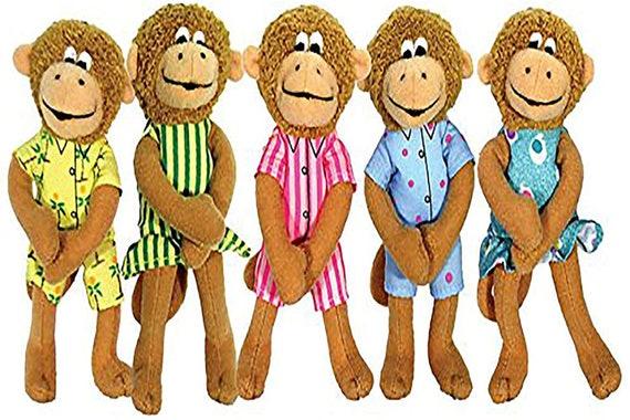 Puppet-5 Little Monkeys Finger ( Five Little Monkeys )