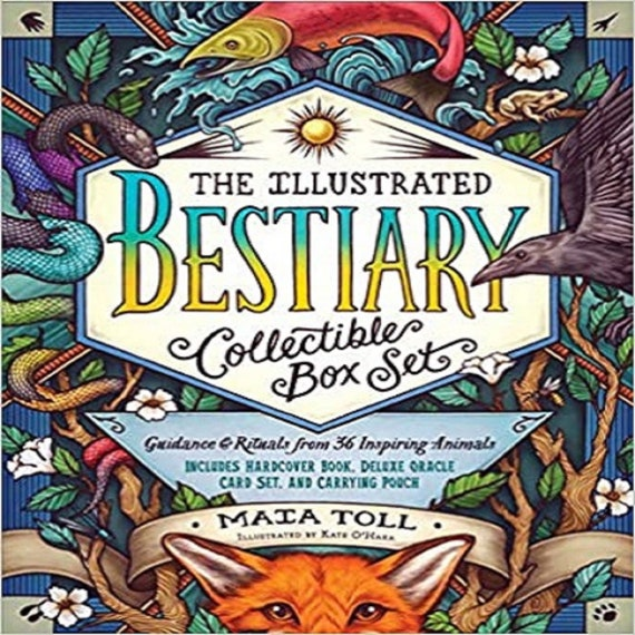 The Illustrated Bestiary Collectible Box Set: Guidance and Rituals from 36 Inspiring Animals; Includes Hardcover Book, Deluxe Oracle Card