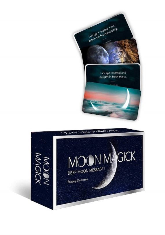 Moon Magick: Deep Moon Messages ( Mini Inspiration Cards )