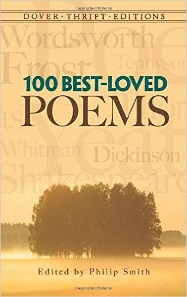 100 Best-Loved Poems Dover Thrift Editions image 0