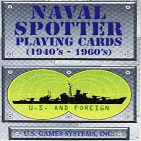 Naval Spotter Playing Cards 1940'S-1960's