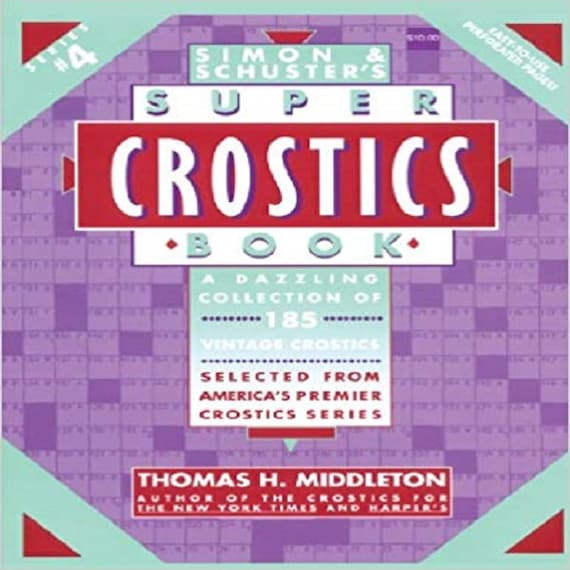 Simon & Schuster's Super Crostics Book, Series No. 4