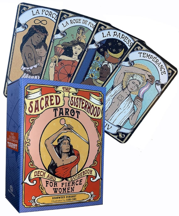 The Sacred Sisterhood Tarot: Deck and Guidebook for Fierce Women (78 Cards and Guidebook)