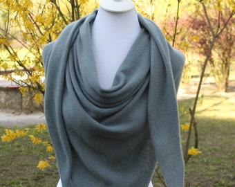 XXL Cashmere,15 Color,Stone Gray,Triangular Scarf,Shoulder Scarf,Bridal Stole,Scarves,Knitted Scarves,Men,Boleros,Wedding Stole,Cashmere,Clothing