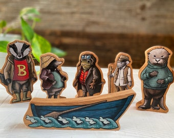 The Wind in the Willows figures / Set of toys / Collection