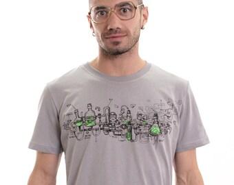 Men's Crazy Scientist T Shirt - Plazmalab Exclusive Artwork - Trippy Tshirt - Psychedelic Alternative Creative Tee - Festival Funny Clothing E8tQ2xkLa8