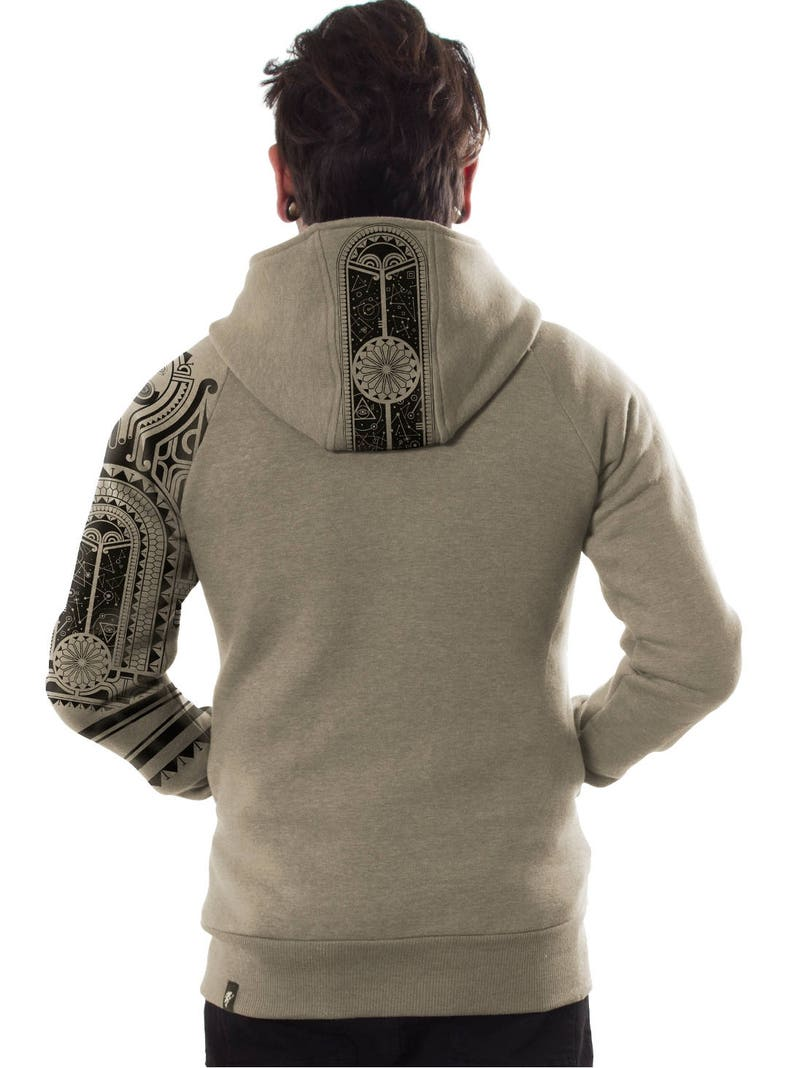 Mauri Jacket Tribal Hoodie Tattoo Clothing Tribal Clothing Zip Up Hoodie Streetwear Hoodie Cool Hoodie Gift For Men Hooded Jacket