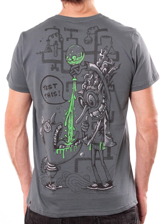 Men's Crazy Scientist T Shirt - Plazmalab Exclusive Artwork - Trippy Tshirt - Psychedelic Alternative Creative Tee - Festival Funny Clothing zfaqLgmW