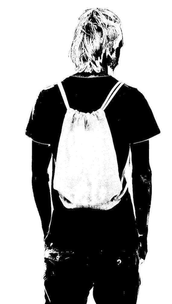 Unisex Canvas Drawstring Sackbag with Skulls and Pills Print Exclusive Artwork