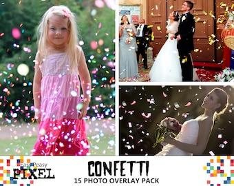 CONFETTI Photoshop OVERLAYS, Confetti Overlays, Photoshop Overlays, Photo Overlays, Wedding Overlays, Spring Overlays, Party Overlays