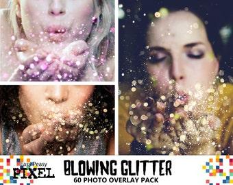 BLOWING GLITTER OVERLAYS, Glitter Overlays, Glitter Overlay, Photoshop Overlays, Photo Overlays, Wedding Overlays, Conffeti Overlays